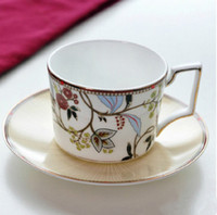 Wholesale Coffee Tea Sets Cups Butterfly Bohemian Bone China Luxury Design Color Elegant
