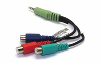 JINCHI 3.5mm One for Three Audio Video Cable AV Line One Male Three Female