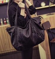 big leather hobo bags - Soft Leather Handbags Big Women Bag Zipper Ladies Shoulder Bag Girl Hobos Bags New Arrivals bolsa feminina Fashion Tote
