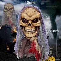 Wholesale Lifesize quot Hanging Man Scary Haunted House Halloween Voice hanging ghost Prop