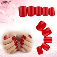 Wholesale Elite99 False Tips Nail Art Press On Manicure Short Length No Glue Needed For Lady Girls DIY Nail Tools