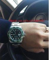 Original caja de alta calidad de cristal de zafiro 40mm 116610 116610LV de cerámica verde Asia ETA 2836 Movimiento automático de relojes de pulsera