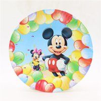 Wholesale Baby Shower Happy Birthday Party Cartoon Dishes Mickey mouse Kids Favors Paper Plates Decoration Supplies Tableware