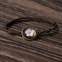adorn gems - Original dry flower blossoms life spend time gem bracelet Restore ancient ways women are hand woven DIY bracelet adorn article
