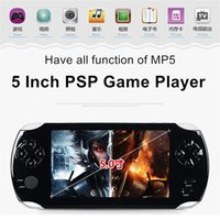 Wholesale 5 Inch Portable Game Players Free Games MP3 FM Camera G PSP Game Player Handheld GBA Consoles MP5 Player