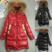 Wholesale Black Red Long Down Jacket For Womens Parkas Outwear Ladies Coat Woman s Clothing
