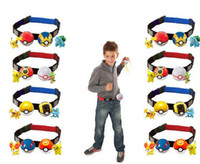Wholesale 4Colors New Play Game Poke Clip N Carry Kids Adjustable Poke Ball Belt Pretend Xmas Gift