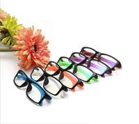 Wholesale Fashion Plastic Frame Clear Lens Glasses Women Men Decorative Eyeglasses Reading Optical Glasses Computer Oculos Gafas No Degree ZA1406