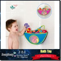 baby bath product - Sozzy Convenient Bathroom Corner Bath Toy Bag For Children Finishing Pouch Finishing Bags Swim Toys Storage Baby Products