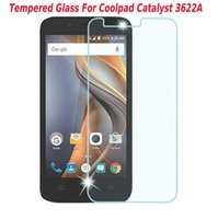 alcatel screen protector - Z981 Tempered Glass Screen Protector Film For Zmax Pro z981 Warp Alcatel Fierce LG On5 Coolpad Catalyst A with paper package