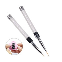 Wholesale DIY Beauty Nail Art Tool Mini Sable Hair Nail Brush Painting Sculpture Nail Art Pull Crystal Long and Short Pen ZA2097