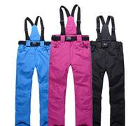Wholesale 2 layers skiing snowboard pants Couple winter sportswear outdoor hiking sport suit loose high waist Couple wide leg trousers