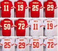 2017 29 Eric Berry 11 <b>Alex Smith</b> 19 Jeremy Maclin 25 Jaimal Charles Jerseys Rojo Blanco Uniformes 50 Justin Houston Eric Fisher Jersey