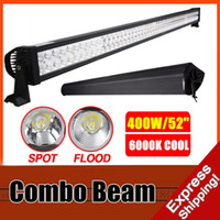 Wholesale 52 W LED Work Light Bar Spot Flood Combo Beam Roof Front Driving Lamp SUV Off road Boat Fog Driving Light inch WD