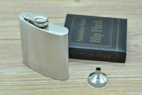 Wholesale Fashion Hip Flask oz Stainless Steel Pocket Retro Whiskey Flask Wine Bottle Liquor Screw Cap With Funnel ZA1409