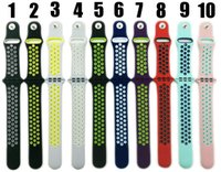 Wholesale Ultra soft with air holes colorful silicone band for Apple Watch series with series strap mm mm Free DHL Shipping