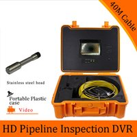 Wholesale set M Cable Pipeline Sewer Inspection Camera With DVR Function Endoscope CMOS Lens Waterproof night version CCTV system