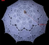 battenburg lace umbrella - Battenburg Lace Parasol and Fan Sun Umbrella Set Bride Adult size Vintage