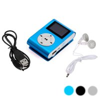 Watch beautiful media player - Beautiful Gift New Shiny Mini USB Clip LCD Screen MP3 Media Player Support GB Micro SD With Cable And Earphone
