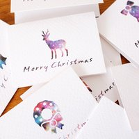 Wholesale Exquisite MuGuang original star series meaningful mini folding CARDS New Year greeting CARDS at Christmas