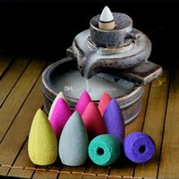 Wholesale 45 smoke backflow incense bullet cones aromatherapy fragrance natural sandalwood Indoor household E00667 OST