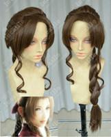 aerith cosplay - Final Fantasy Aerith Gainsborough Brown Long Braids Cosplay Wig