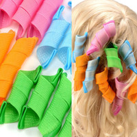 big roller set - 18Pcs Set Automatic Plastic Hair Curlers Rollers Thread Form Big Waves Snail Curls Curly Hair Artifact Magic Hair Styling Tools ZA2050