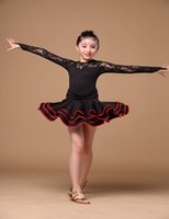 Cheap 2016 New Arrive so nice children Latin dance Dress Kid's latin Stage Dance Wear girl dress include safety pant 2 color