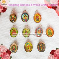 baby icon - Free ship pack baby Guadalupe pendant Guadalupe charm alloy religious Icon Charm one side epoxy