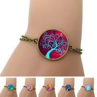 art tree images - Life Tree Charm Bracelet Glass Cabochon Art Image Vintage Bronze Fashions Bracelets For Women Jewelry