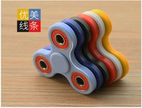 Wholesale Stocks Hand Spinner Triangle Tri Fidget Ceramic Ball Desk Focus Toy EDC For Kids Adults Finger Spinning Top