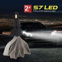 Wholesale New Car Xenlight S7 H7 LED Headlights Bulbs K W LM LED Headlight High Power Waterproof IP85