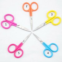 Wholesale Stainless Steel Student Yarn Scissors cm g Straight Sewing Office Scissors Sharp Bend Round Pet Instrument Beauty Scissors