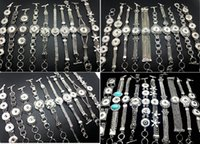 Wholesale Different Style Silver Snap Charm Bracelet Interchangeable Diy Snap Jewely Bangle Fit mm Ginger Snap Chunk Button