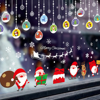ball coverings - Christmas Decorations Hanging Balls Shinning Stars Snowflakes and White Angels for Home Shop Window Coverings Decor Wall Decals Stickers