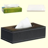 Wholesale Home RemovableTissue Box PU Leather Retangle Office Organizers Holders Canisters Case Car Room Toilet Household Hotel Decoration