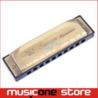 Grossiste en laiton Bronze couleur Vintage Swan SW1020-8 Harmonica Blues Diatonique Harps C Tune avec boîte de tissu propre