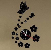 Wholesale Creative wall clock Acrylic iris mirror decoration mirror wall clock digital wall clock for the sitting room