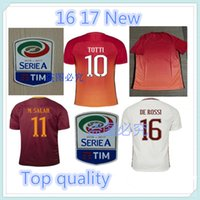Wholesale Indonesia s quality TOTTI DE ROSSI third Jerseys Rubber Serie A PJANIC DZEKO home away Romas Jerseys shirts