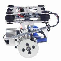 F06885 Aluminium 2 axes Gimbal Caméra de fixation PTZ stable avec contrôleur de moteur Brushless pour DJI Phantom DIY Quardcopter Drone