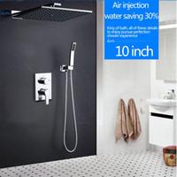Single Holder Dual Control bathroom shower system - hm quot Rainfall Shower Head System Polished Chrome Bath Shower Faucet Bathroom Luxury Rain Mixer Shower Combo Set Wall Mounted