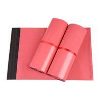 Rosa 400Pcs / Lot Poly Envoltorio Envoltorio Express Pack Bolsas Autoadhesivo Sello Plástico Envío Mailer Courier Paquete Bolsas