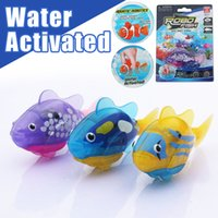 Wholesale 2pcs Robo Fish Water Activated Battery Powered Robofish kids Clownfish Bath Toys children Robotic Fish Electronic pet drop shipping