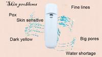 Wholesale Mini Rechargeable Portable Hydrator Machine Vapor Facial Steamer Nano Mister Sprayer Sauna Nebulizer Face Spray