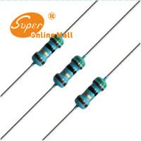 Venta al por mayor 1000PCS 1 / 4W 220 ohm resistor +/- 1% ROHS 1 / 4w 220R ohm Resistores de película de metal / 0.25W Watt color anillo de resistencia de la película de carbono 5%