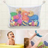 Wholesale New Arrival Kids Baby Bath Tub Toy Tidy Storage Suction Cup Bag Mesh Bathroom Organiser Net Cheap S10