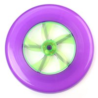 Wholesale New Colorful Spin LED Light Outdoor Toy Flying Saucer Disc Frisbee UFO M fr Kids