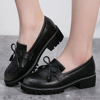 academic style - Academic Shoes Bowtie Beauty Oxford Style Sewing Edge High Waterproof Soft Leather Dressed Shoes Girl Plat Shoes