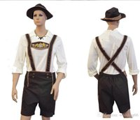 beer germany - 2017 Adult Hansell Small Leather Munich Beer Festival In Germany Bavaria Beer Clothing Halloween Costume Bib Shorts Embroidery