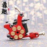 achat en gros de nouveaux modèles de balles-Vente en gros- Nouvelle machine à tatouage de conception 10 enveloppe bobines tatouage Gun Red Bullet Design pour doublure TM2382